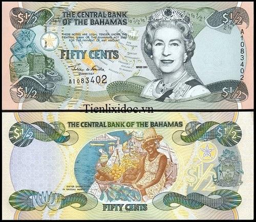 1/2 Dollar Bahamas