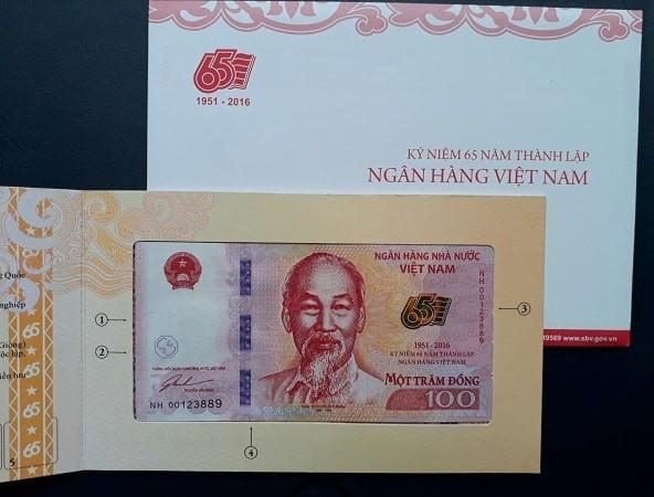 100 Đồng Kỉ Niệm 65 Năm NHNN Năm 1951 - 2016 Full Folder