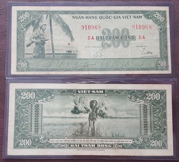 200 Đồng Lính Bồng Súng 1955 Lần 1