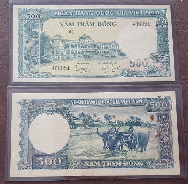 500 Đồng Trâu Xanh - Ngô Đình Diệm 1962