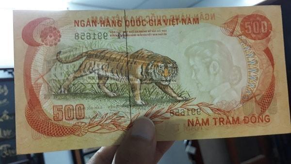 500 Đồng VNCH Năm 1972 Hình Con Hổ