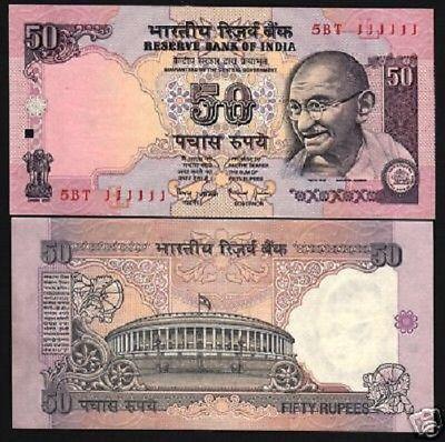 Ấn Độ 50 rupees 1997