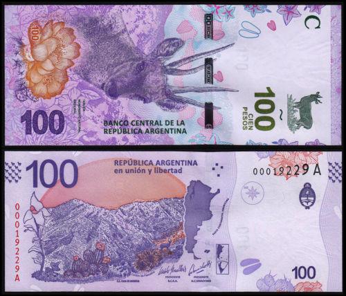 Argentina 100 pesos 2018