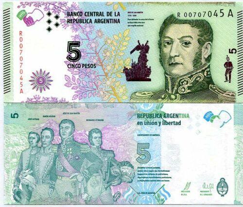 Argentina 5 pesos 2015