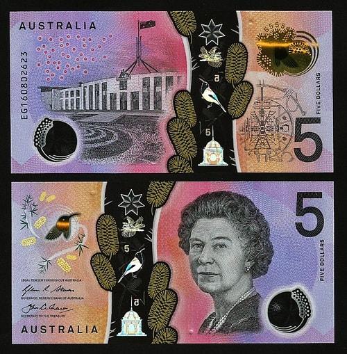 Australia 5 dollars (polymer)