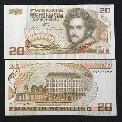 Austria 20 schilling 1986
