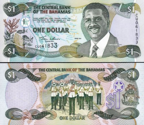 Bahamas 1 dollar 2001