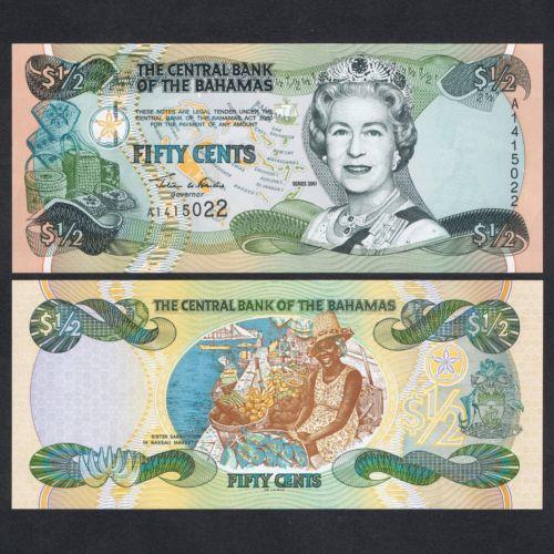 Bahamas 1/2 dollar 2001