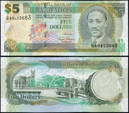 Barbados 5 dollars 2007