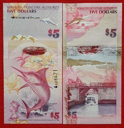 Bermuda 5 dollars hybrid 2009