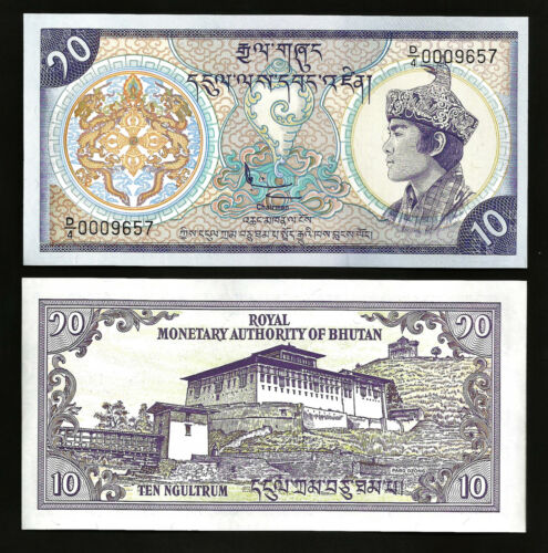 Bhutan 10 ngultrum 1986