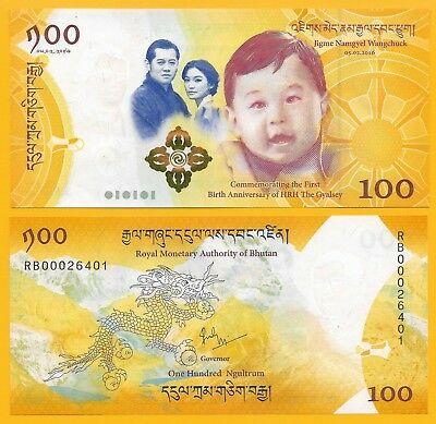 Bhutan 100 ngultrum 2016