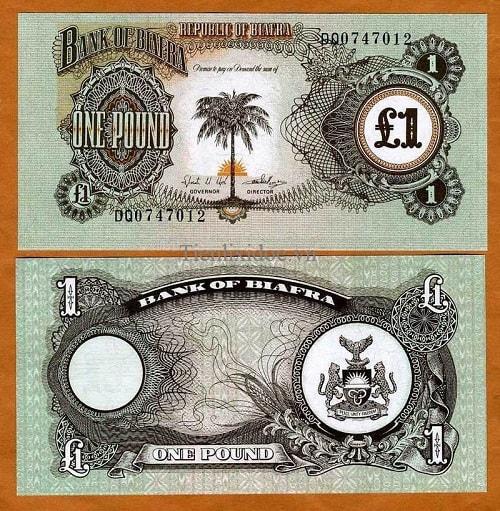 Biafra 1 pound 1968