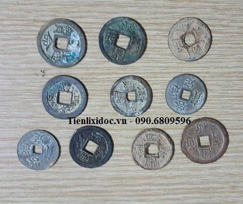 Bộ 10 Xu Cổ Lỗ Vuông Việt Nam Thời Phong Kiến