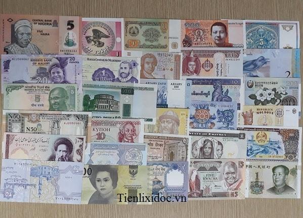 Bộ Tiền 30 Nước Khác Nhau