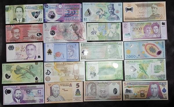 Bộ Tiền Polime 20 Tờ 20 Nước Khác Nhau