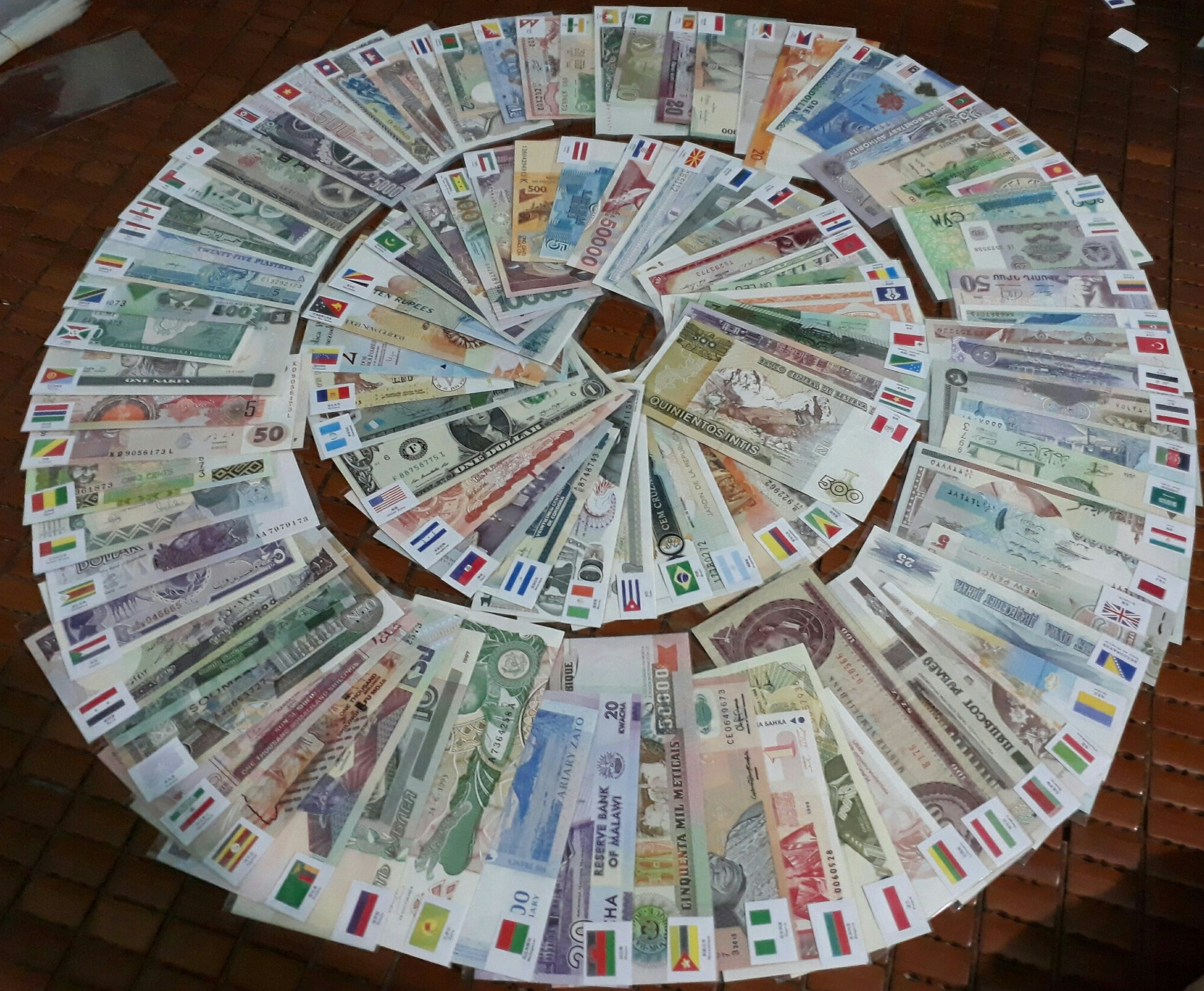 Bộ Tiền Thế Giới 100 Quốc Gia