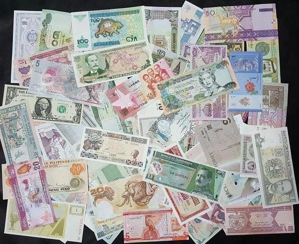 Bộ Tiền Giấy Thế Giới 120 Quốc Gia