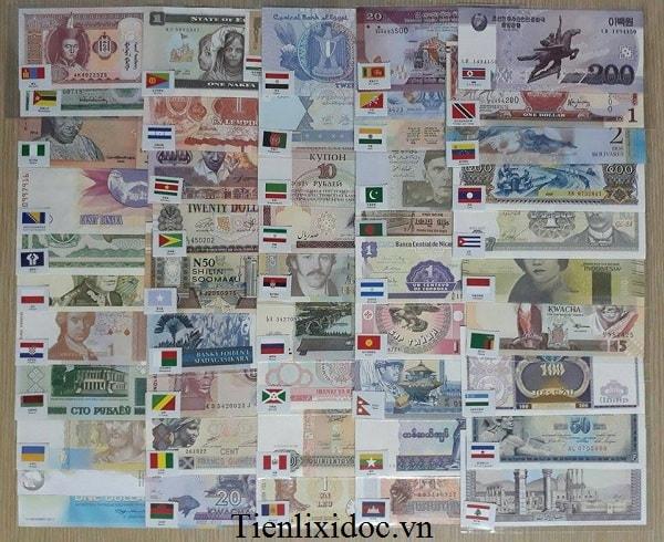Bộ Tiền Thế Giới 50 Quốc Gia