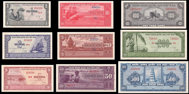 Bộ Tiền Việt Nam Cộng Hòa 1955 Lần 1