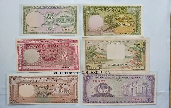 Bộ Tiền Việt Nam Cộng Hòa 1955 Lần 2
