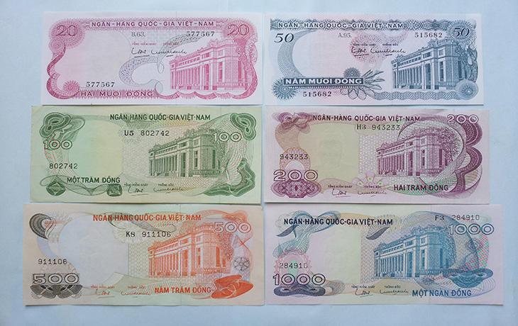 Bộ Tiền Việt Nam Cộng Hòa 1969(Hoa Văn)