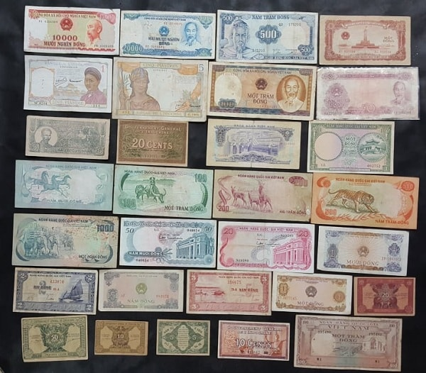 Bộ Tiền Xưa 30 Tờ Khác Nhau