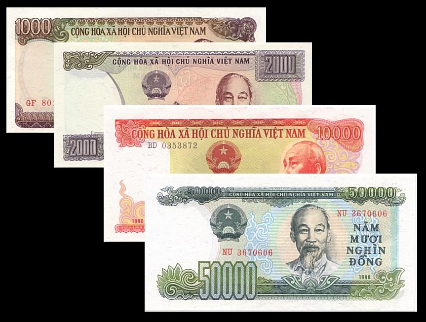 Bộ Tiền Xưa Năm 1987 - 1990(Hiếm)