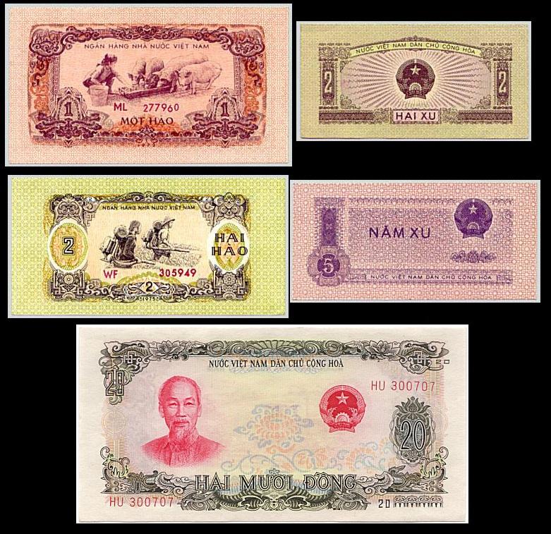 Bộ Tiền Xưa Việt Nam Dân Chủ 1962 - 1975