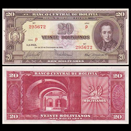 Bolivia 20 bolivianos 1945