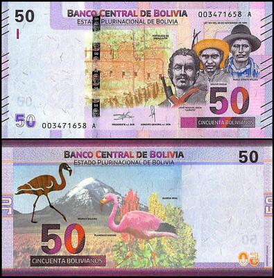 Bolivia 50 bolivianos 2018