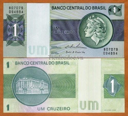 Brazil 1 cruzeiros 1975