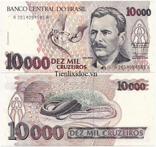 Brazil 10.000 cruzeiros 1991