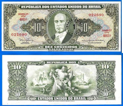 Brazil 10 cruzeiros 1967