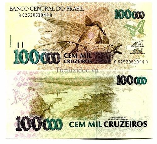 Brazil 100.000 cruzeiros