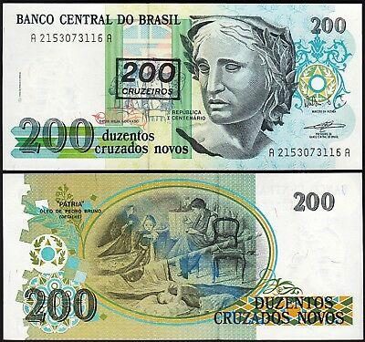Brazil 200 cruzeiros 1990