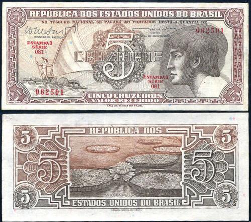 Brazil 5 cruzeiros 1961