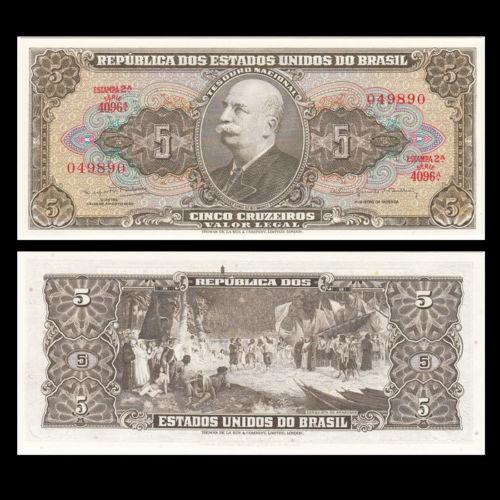 Brazil 5 cruzeiros 1964