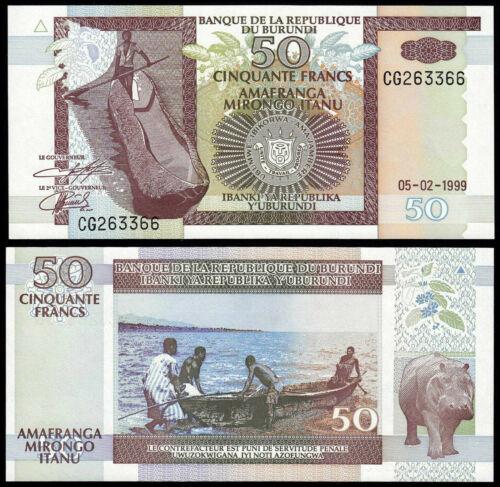 Burundi 50 francs 1990