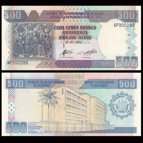 Burundi 500 francs 2003