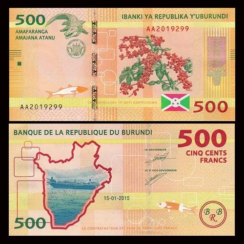 Burundi 500 francs 2015