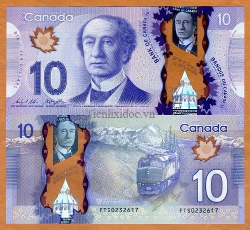 Canada 10 dollars polime