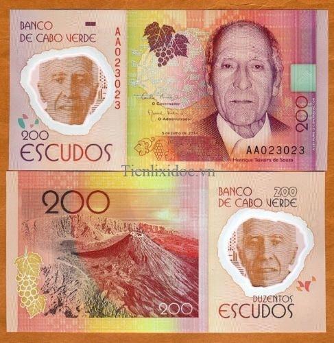 Cape verde 200 escudos 2014 polime