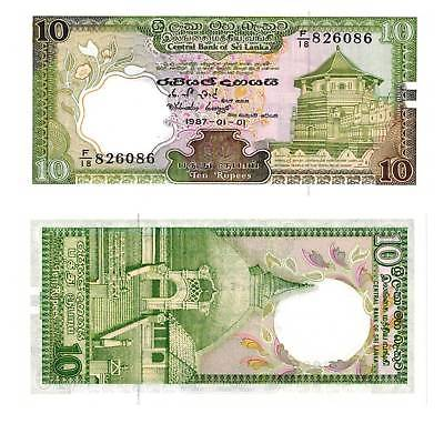 Ceylon 10 rupees 1987