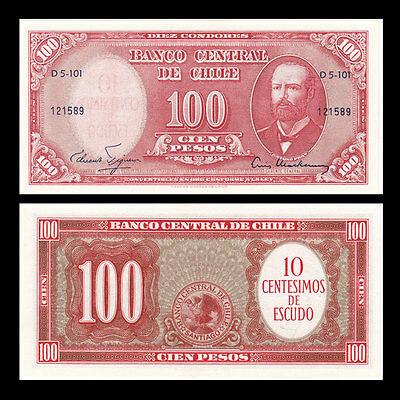 Chile 100 escudos 1960