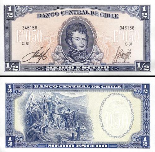 Chile 1/2 escudos 1970