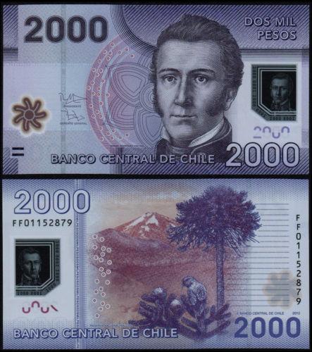 Chile 2000 pesos 2016 polymer