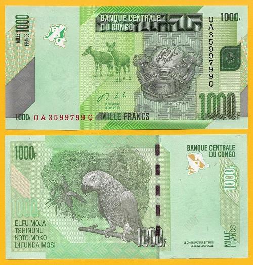 Conggo 1000 francs 2013