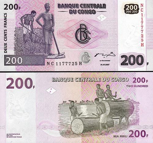 Conggo 200 francs 2002