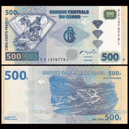 Conggo 500 francs 2002